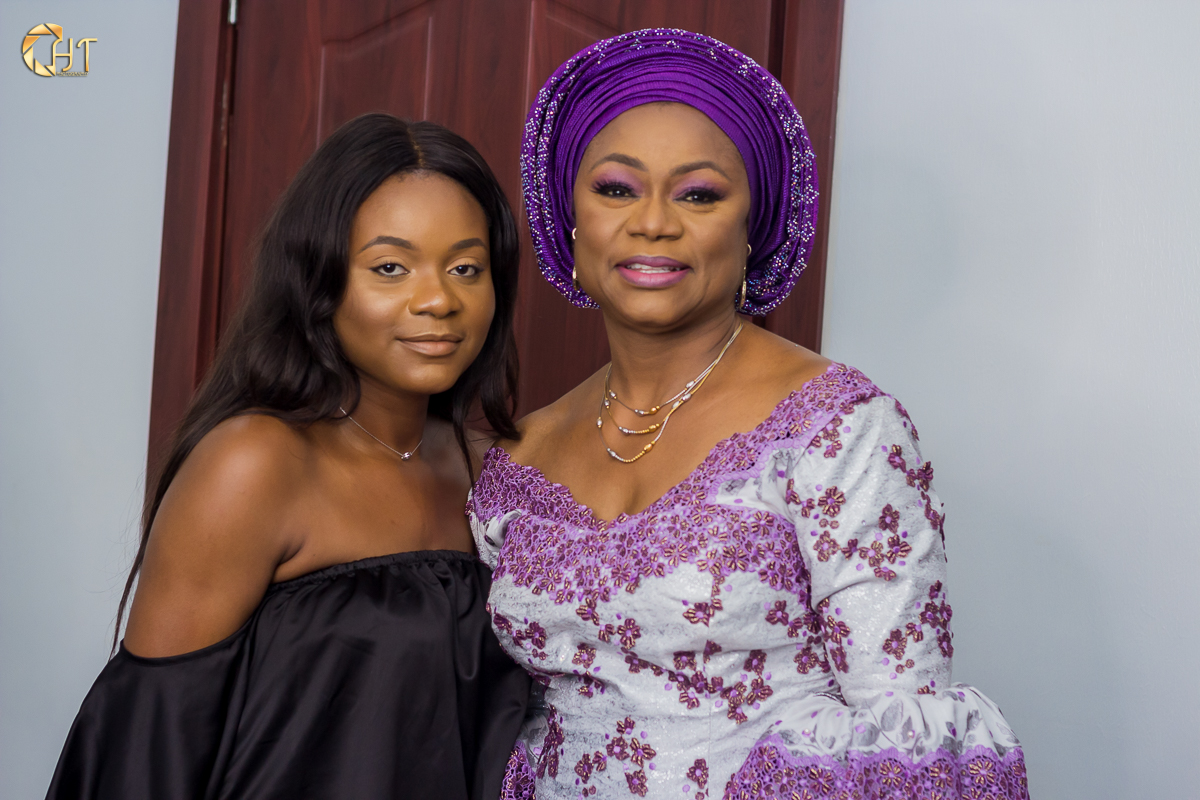 CEO, Rise and Glam Jennifer Imevbore with first Official Client